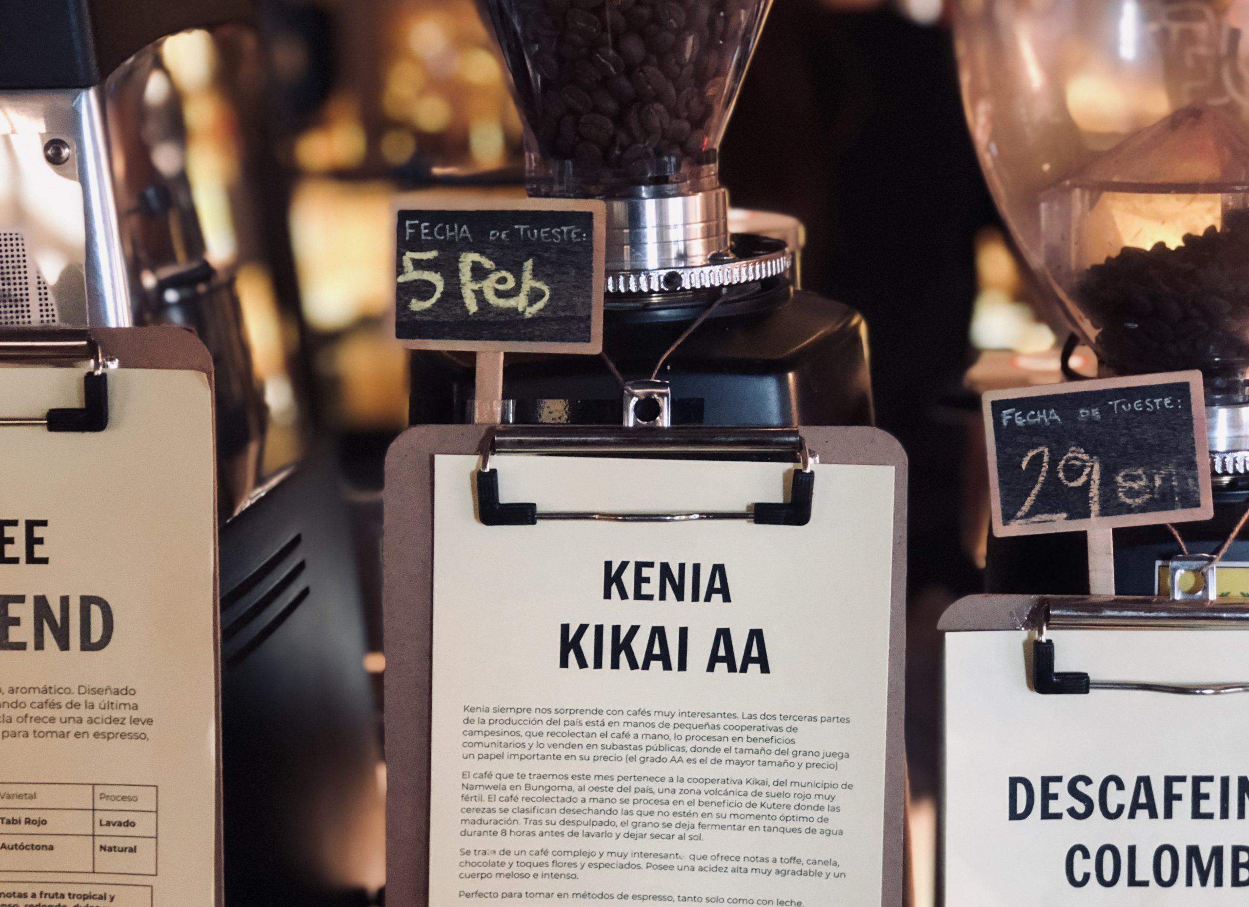 Nuevo Kenia Kikai AA Para Espresso
